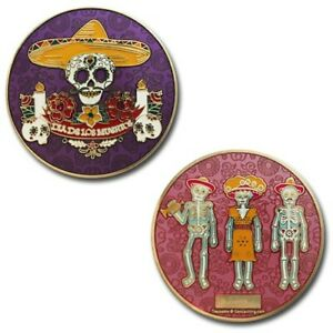 Day-Of-The-Dead-Gold-Geocaching-Geocoin-Coin-Trackable-Tod