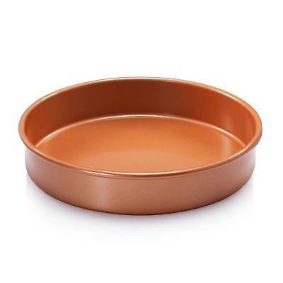 """Gotham Steel Bakeware Round 9.5"""" Copper Baking Cake Tin - Nonstick - NEW!"""
