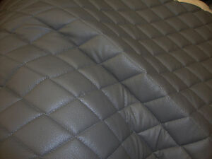 Vinyl-Upholstery-Grey-diamond-Quilted-fabric-with-3-8-034-Foam-Backing-by-yard