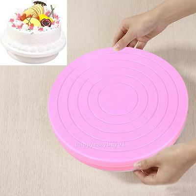 Small Cake Revolving Turntable Stand Platform Rotating Display Plate Decorating