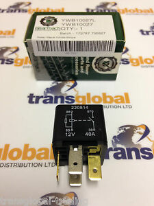 Land Rover Freelander Electric Window Relay Bearmach Part replaces Yellow type