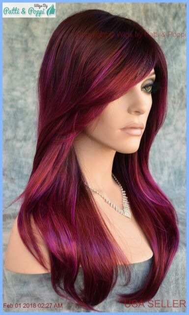 Angelica Pm By Noriko Wigs Partial Mono Plumberry Jam Long Sexy Authentic For Sale Online