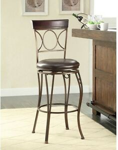 Details About Circles Back Swivel Bar Stool Home Decorators Collection Upholstered Seat 30 In