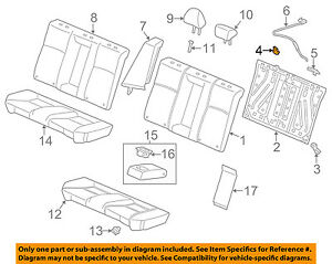 image is loading honda-oem-13-17-accord-rear-seat-seat-