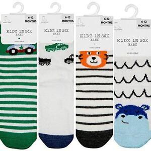 4-Pack Non Slip Grip SocksBaby Socks Non SkidToddler Socks Boys With Grips