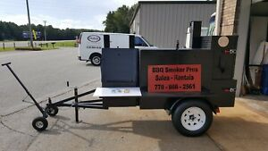 Pro-Mobile-BBQ-Smoker-Trailer-w-Wheel-Dolly-Grill-Food-Truck-Vending-Concession