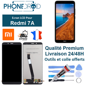 Ecran-complet-LCD-Tactile-Xiaomi-Redmi-7A-Black-Outils-stock-en-France