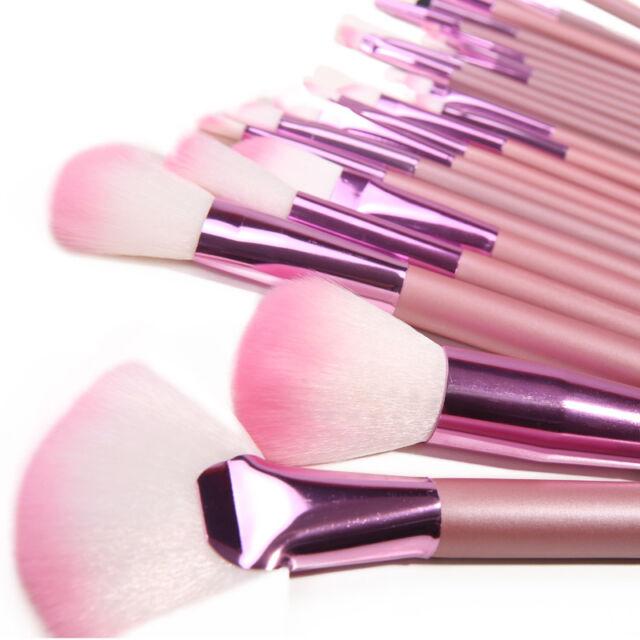 22Pcs Fashional Makeup Brush Brushes Sets Professional Cosmetic Bag Pink Gift