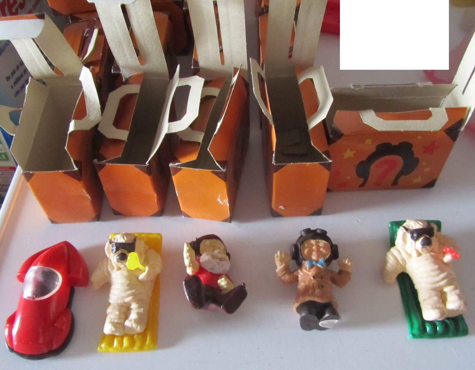 Serie 5 personaggi Ciribiribì Ciripiripì Kodak pubblicitario gadget vintage