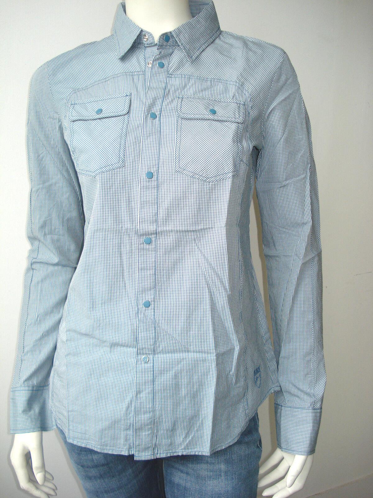 Diesel Damen Langarm Shirt Blause Overhemd Clodi Neu Schön