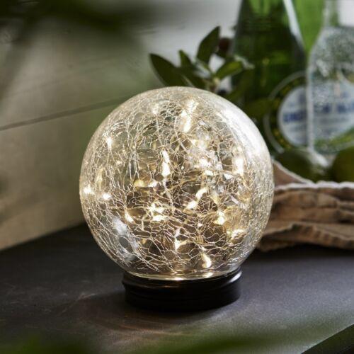 Led Solar Kugel Leuchte mit 30 micro Leds warmweiß Glaskugel Hängelampe Garten