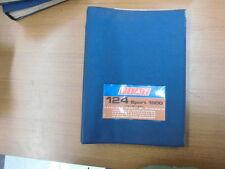 FIAT 124 SPORT 1600 COUPE' / SPIDER CATALOGO RICAMBI