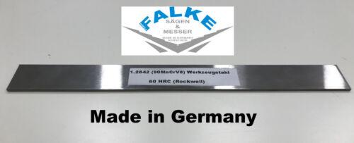 90MnCr // Klingenstahl 1000 x 41 x 3 mm Messerstahl Werkzeugstahl Damast 1.2842