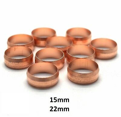 22mm copper olives x 25