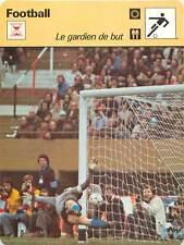 FICHE CARD: Gardien de but  Goalkeeper   FOOTBALL 1970s