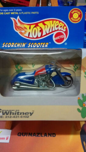 Hot Wheels JC Whitney Scorchin Scooter Limited Editions Bleue CP30
