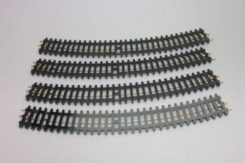 ZA269 Jep Train rail Ho Lot de 4 rails courbes longueur 245 mm 3 voies