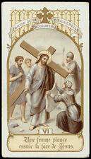 santino-holy card AIGUEBELLE-VIA CRUCIS, VI STAZIONE