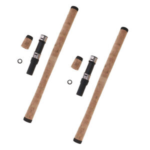 perfk 2 Satz DIY Angelrute BAU Reparatur Komposit Kork Griff W//Reel Seat Kit