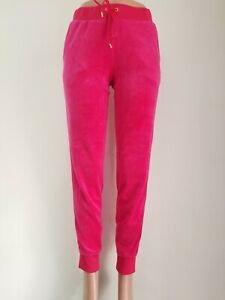 Juicy-Couture-Women-039-s-Ultra-Soft-Velour-Trackpants-Jogger-Pants-w-pockets-M