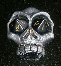 Custom Made Metallic Silver Skull Dice Life Counter MTG RPG Magic The Gathering