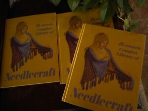 Needlecraft Lee Wards Complete Library 3 Editions 1 2 & 3 Vintage Hardcover