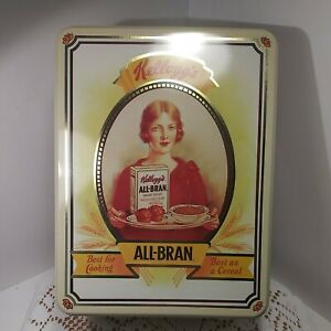 Vintage 1991 Kelloggs 75 Year Anniversary All-Bran Cereal Tin. Beautiful