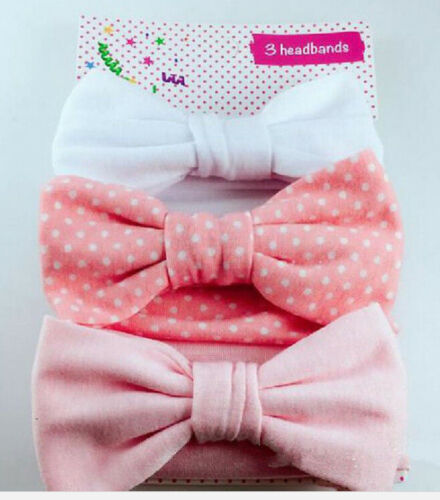 3pcs Newborn Headband Cotton Elastic Baby Print Floral Hair Band Girls Bow-knot/""