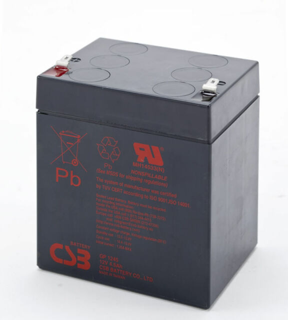 BATTERY COMPATIBLE WITH FULLRIVER HGL5-12A GP1245F1  .187   EACH
