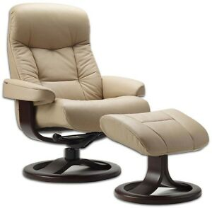 fjords 215 muldal leather recliner chair ottoman norwegian