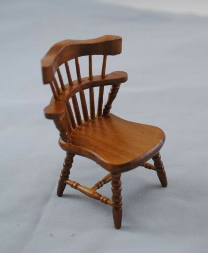 Chair Windsor wooden dollhouse miniature furniture T6311 1//12 scale