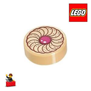 LEGO-PICK-A-BRICK-PIECE-6139650-Round-1-x-1-with-Cookie-Magenta-Center-Patter