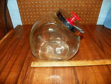 Vintage General Store Glass Penny Candy / Cookie Jar w Chrome Lid