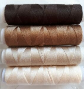 New High Quality Brown 1 x 50m Cotton Sewing Thread For Hand or Machine