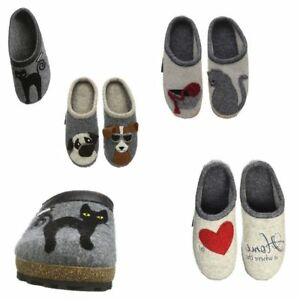 f66aedf73cb07 Giesswein Ladies Felt Mule Slip On Slippers Sandals Clogs Wool Cat ...