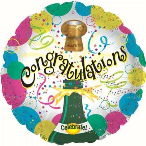 """Foil Balloon felicitaciones buena suerte obtener bien gracias 18/"""" Helio Redondo Estrella"""
