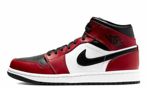 UK6.5 // US7.5 Nike Air Jordan 1 Mid BNIB /'Chicago Toe/' 554724-069