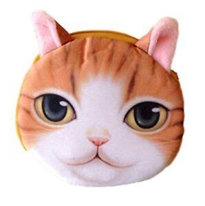 Geldbeutel Mit Süßem Katzenmotiv hellbraun-weiß Direktverkaufspreis Flauschiger Münzbeutel