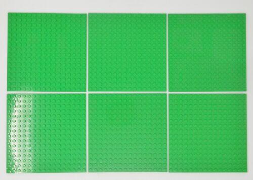 "LEGO 6 piece Bright Green Baseplates 16x16 studs 5/""x5/"" #91405 Friends Elves"