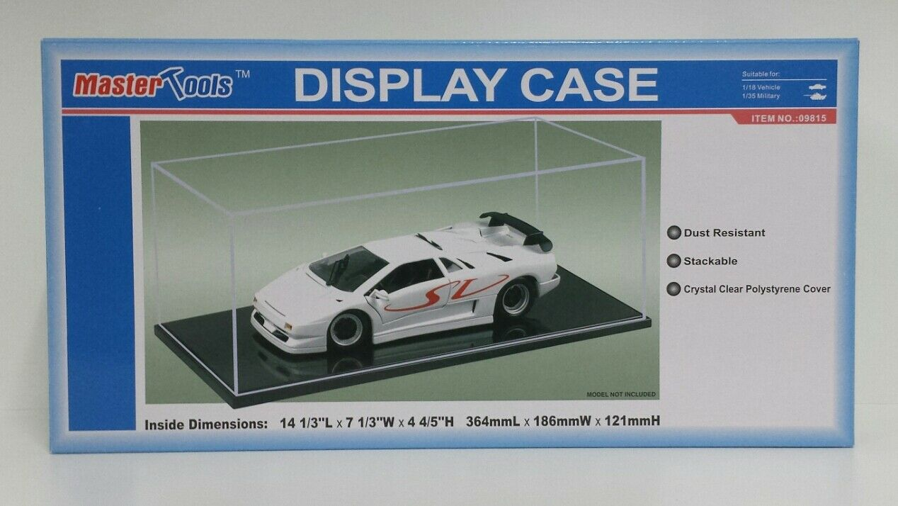 SHOWCASE COURSE DISPLAY CASES IN PLEXIGLASS FOR MODELS CAR 1 18 WAGONS 1 35 NEW