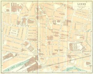 York. Leeds Plan De Ville 1924 Ancienne Vintage Carte Graphique-afficher Le Titre D'origine Demande DéPassant L'Offre