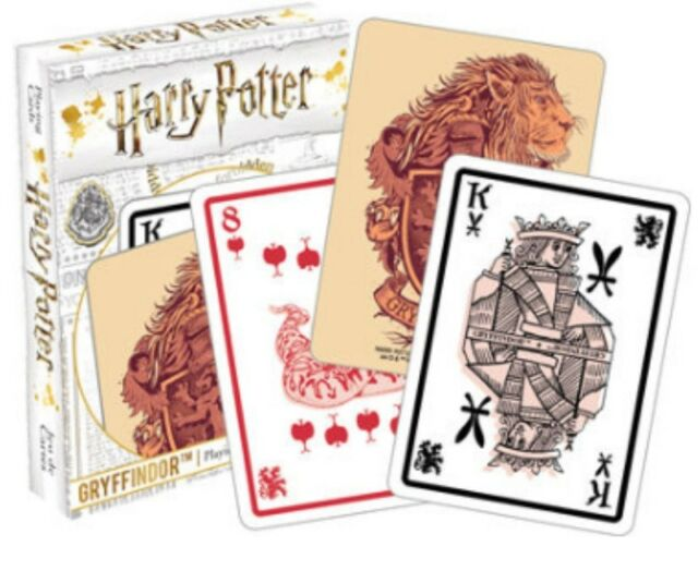 Harry Potter Gryffindor set of 52 playing cards jokers)