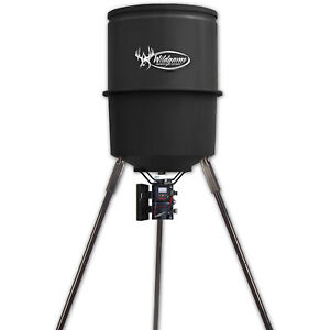 Hunting Game Deer Feeder 30 Gallon Quick Set Tripod Feeder Steel Case Heavy Duty