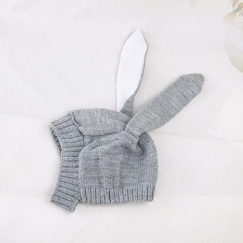 Kids Winter Knitted Cap Baby Infant Photogragh Hat Toddler Warm Rabbit Ears SS3
