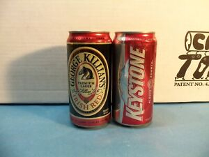 Details about Sweet 2 12 oz Killian & Keystone beer cans All cans bottom  opened