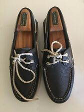 SPERRY TOP SIDER Mens Pebbled Blue Leather 2 Eye Loafers Dock Boat Shoes Size 9M