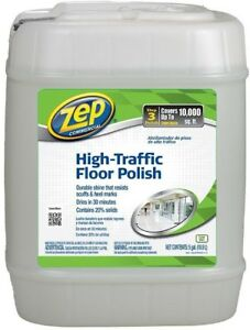Zep High Traffic Floor Polish Gallon Durable Gloss Shine Resists Scuffs Ebay