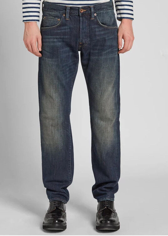 JEANS EDWIN HOMME ED 55 RELAXED TAPERED (white listed-dark slush) W34 L34