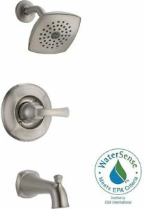 Elegant Delta 144962SS Mandara Tub U0026 Shower Faucet Set Nickel 562524 E11