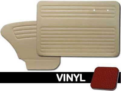 Front Only w//o Pockets 1965-1966 VW Bug Sedan//Conv Door Panels Choose Color